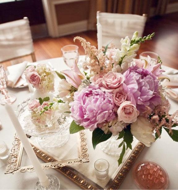 Dekoracja na okrągłe stoły ślubne