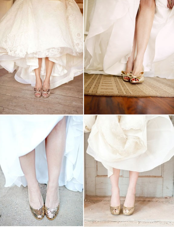 Pretty Wedding Zlote Buty 3