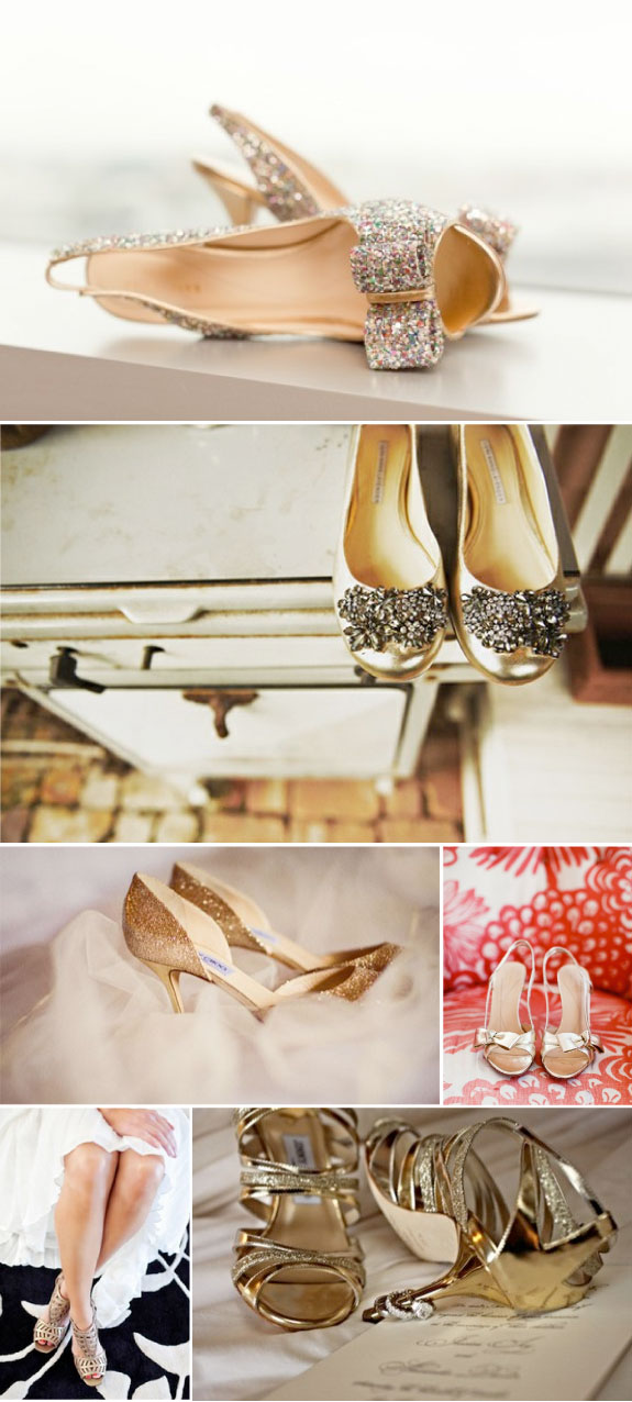 Pretty Wedding Zlote Buty