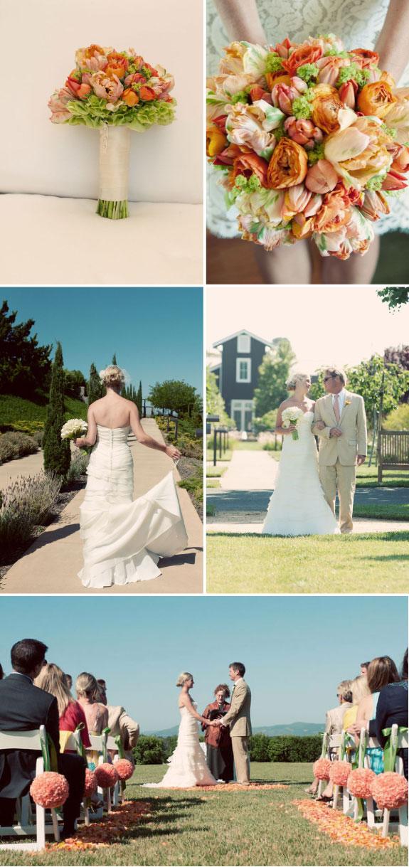 Pretty Wedding Ślub w kolorach pomarańczowym i zielonym