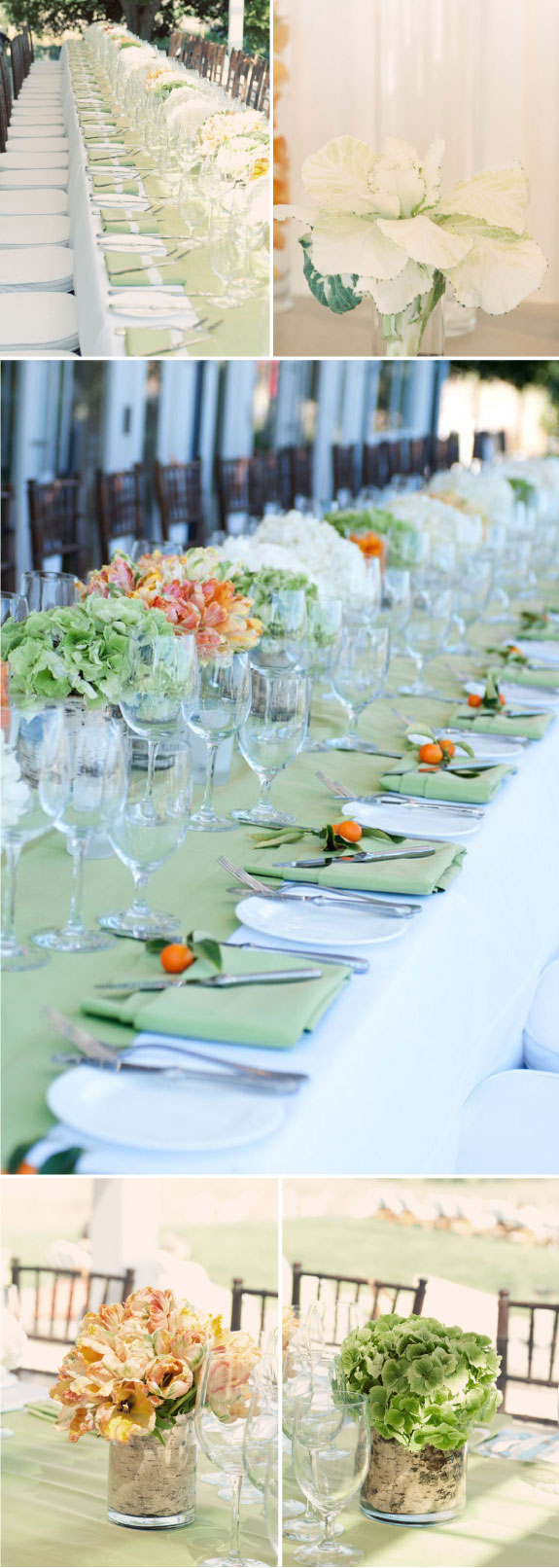 Pretty Wedding Ślub z tulipanami, pomarańczowy i zielony kolor na ślubie
