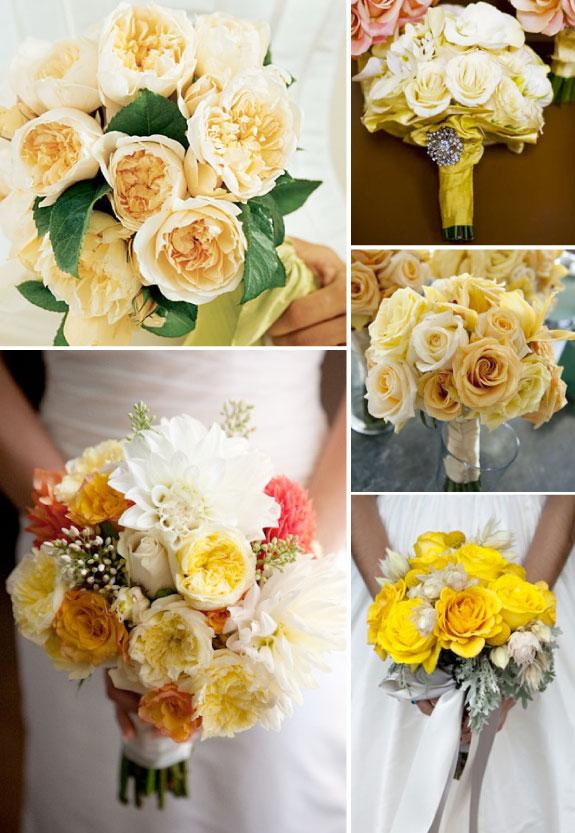 Kompozycje bukietów ślubnych z róż