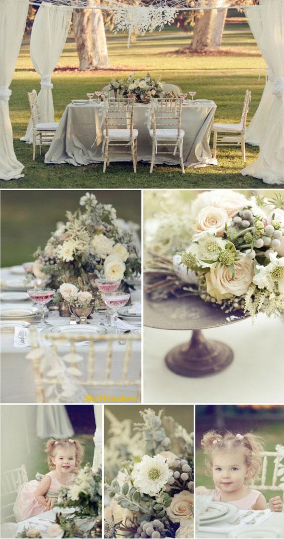 Ślub w stylu angielski ogród