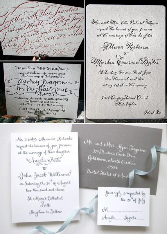 Kaligrafowane zaproszenia ślubne