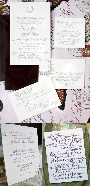 Zaproszenia ślubne odręcznie pisane