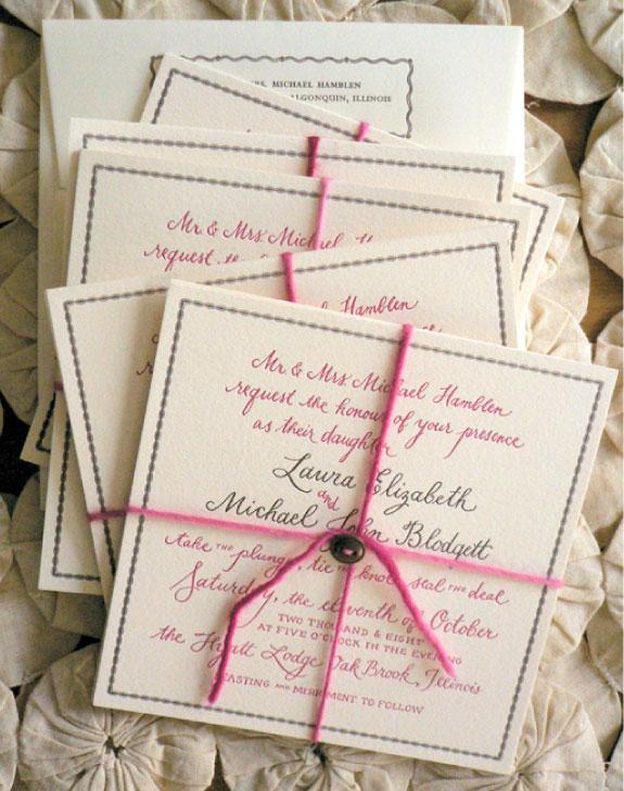 Piękne zaproszena ślubne