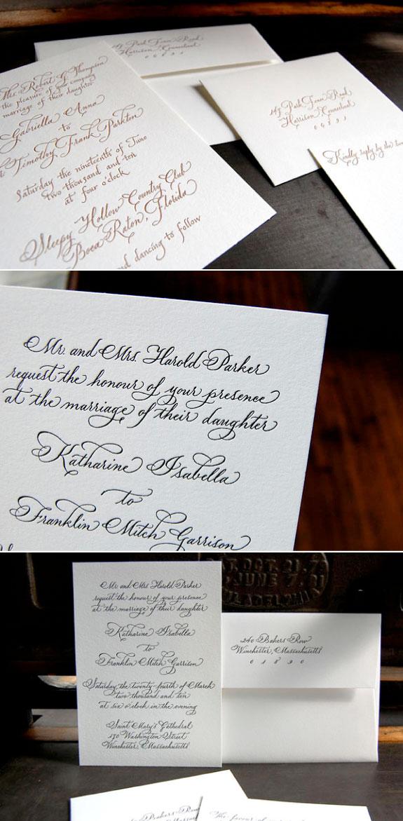 Elegnckie zaproszenia ślubne