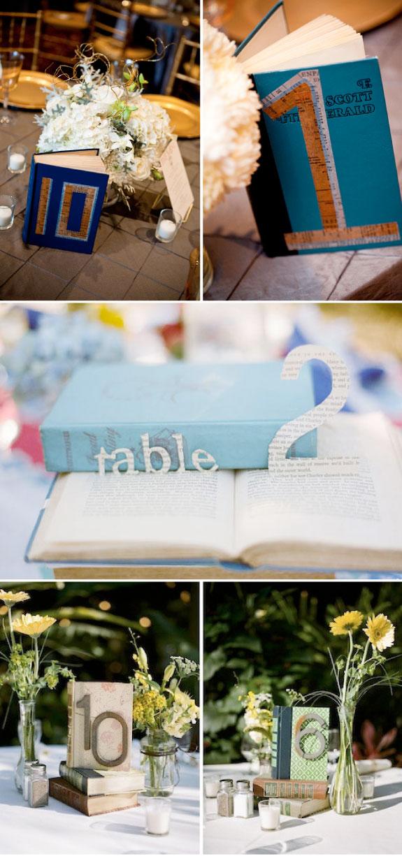 Dekoracja stołów ślubnych, oznaczenie stolików