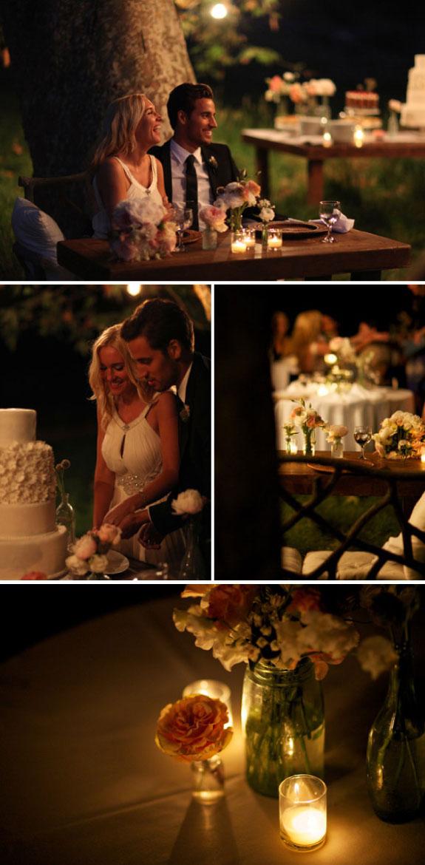 zdjęcia ślubne wieczorem, zdjęcia nocą, ślub w ogrodzie