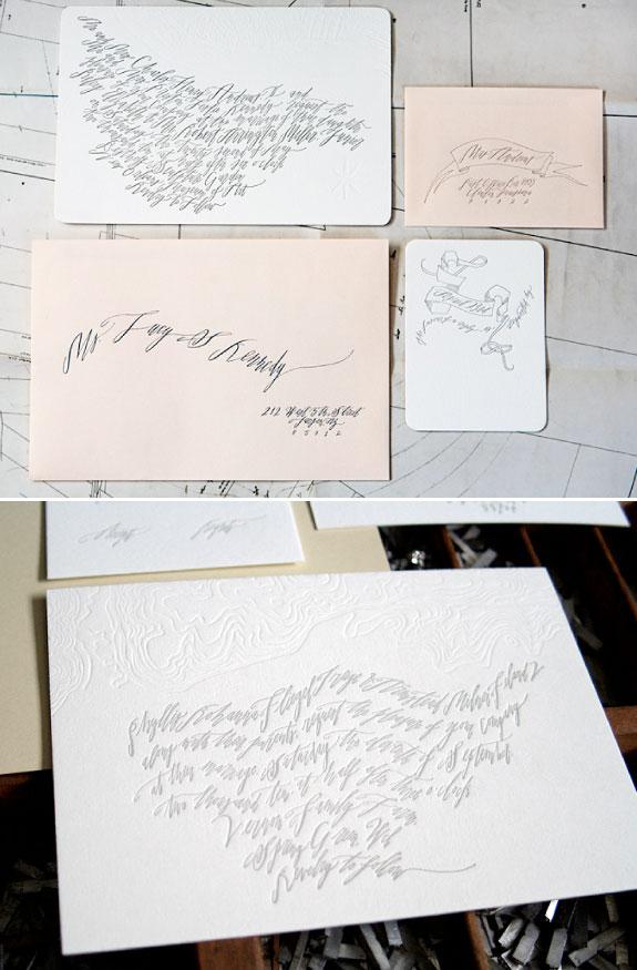 Zaproszenia na ślub letterpress