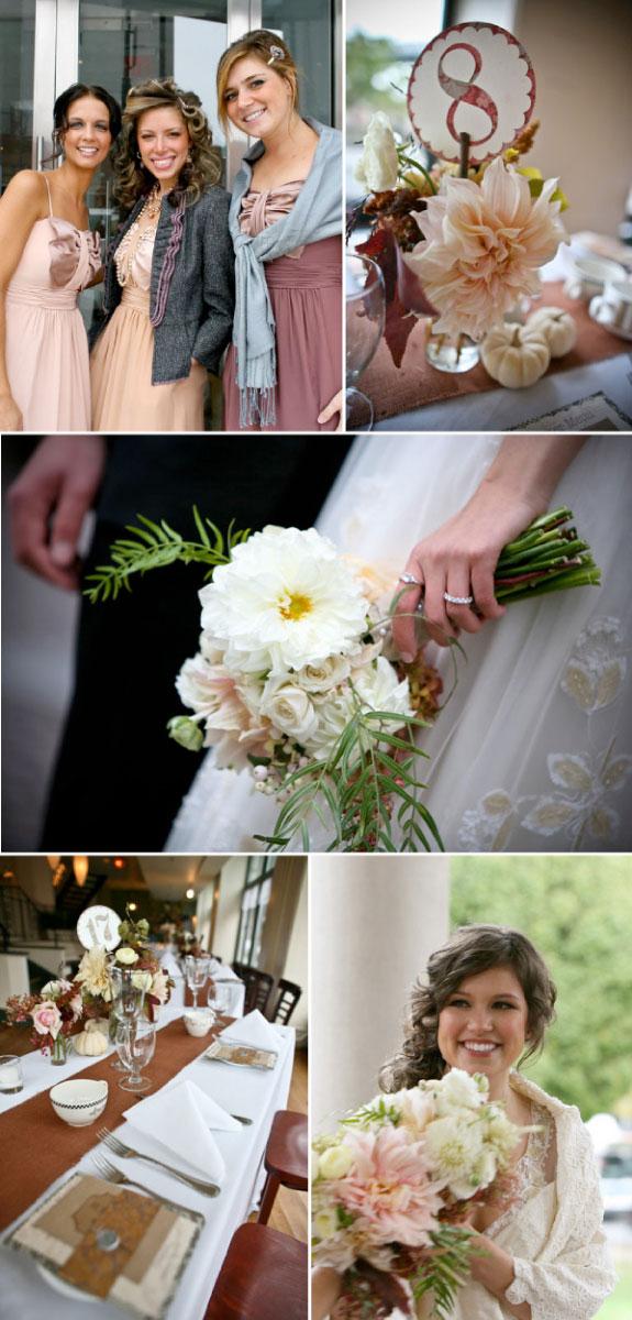 Kwiaty na wesele w stylu vintage