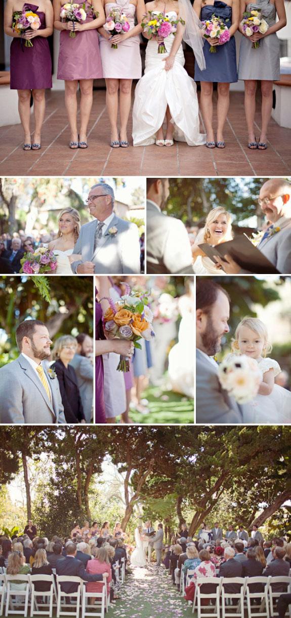 Delikatne, kolorowe bukiety ślubne, pastelowe barwy na weselu
