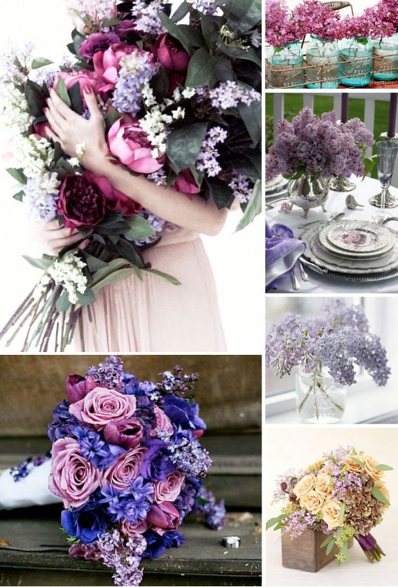 Liliowe bukiety ślubne