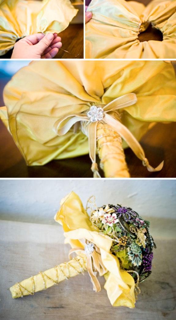 Bukiet z broszek, oryginalny pomysł na bukiet ślubny