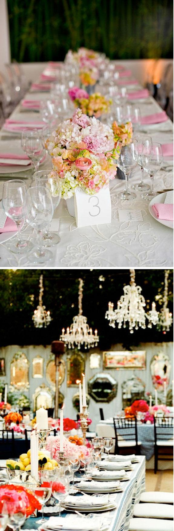 Pretty Wedding Dekoracja Podłużnych Stołów