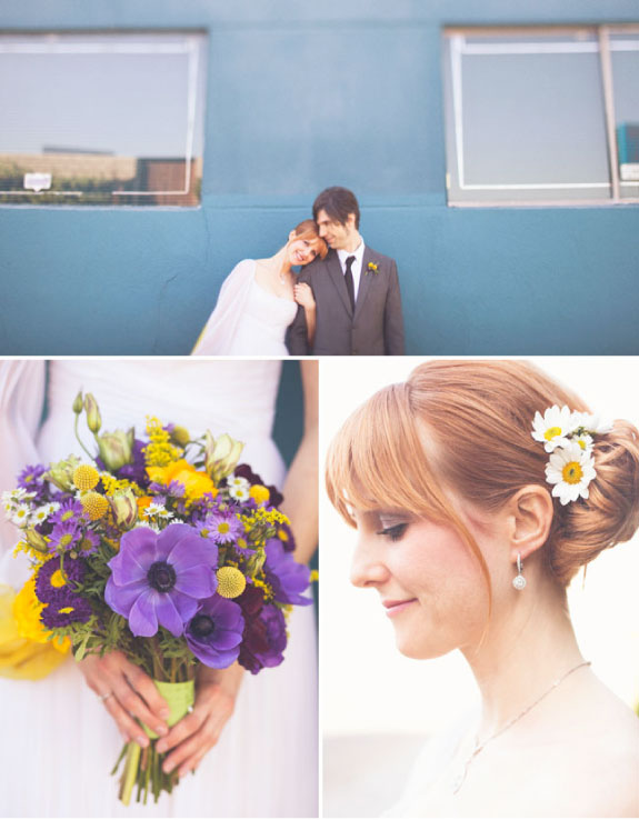Odważne kolory na ślubie i weselu, żółto fioletowy ślub