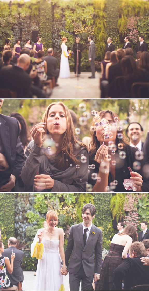 Ślub w żółciach i fioletach