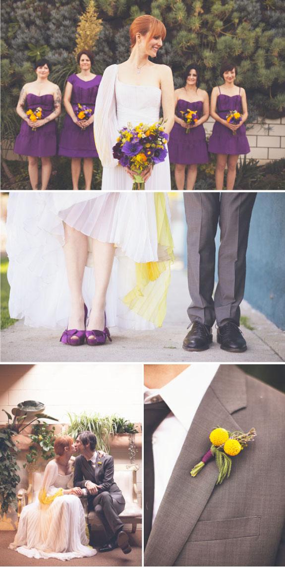 Pani Młoda i drużki na ślubie i weselu, butonierka Pana Młodego