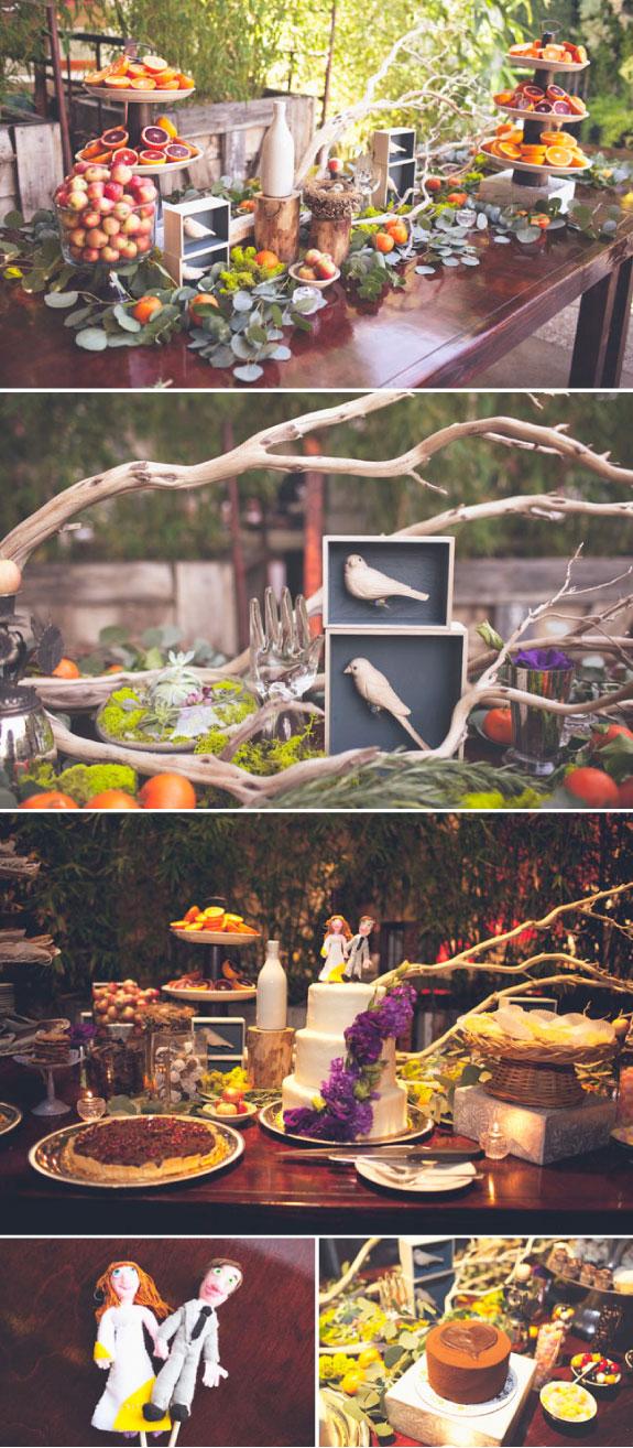 Przykład udekorowania stołów na ślubie