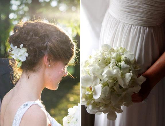 Bukiet ślubny ze storczyków