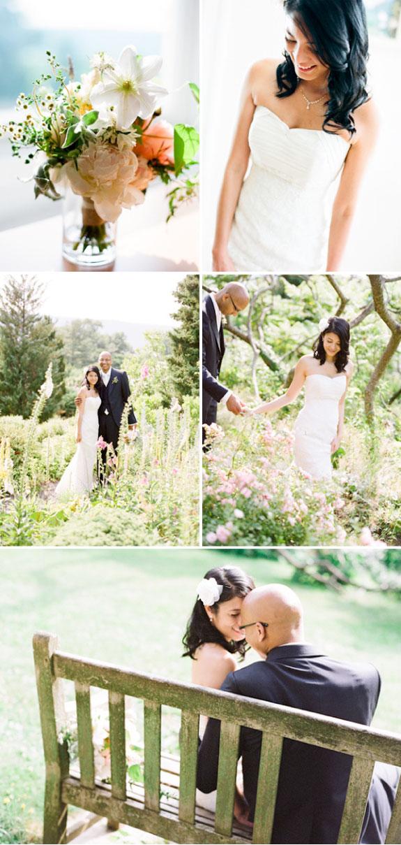 Piękne kolorowe bukiety na weselu w ogordzie