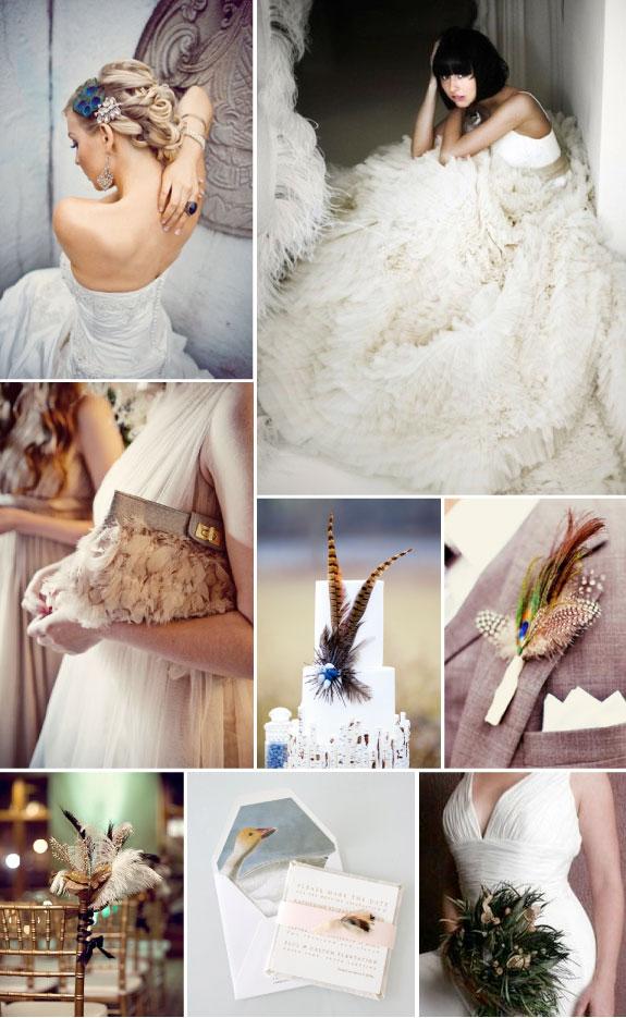 Nowy trend w modzie ślubnej - pióra