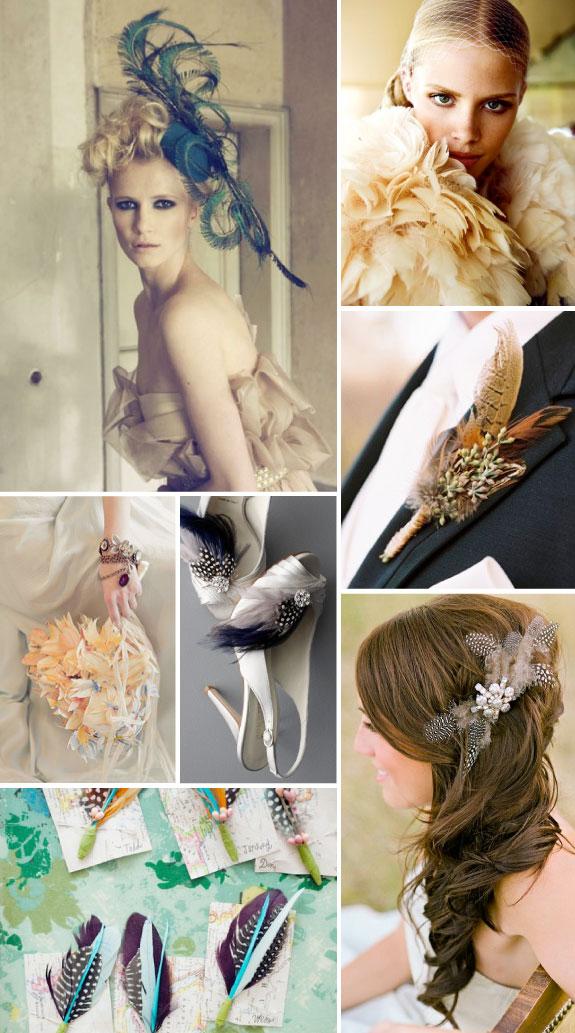 Piórka dodają każdemu weselu uroku i elegancji
