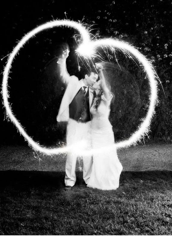 Sztuczne ognie na zakończenie wesela