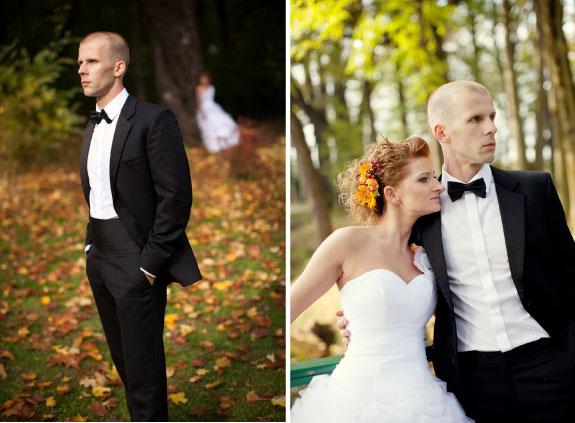 Słub w pałacu, ślub jesienią