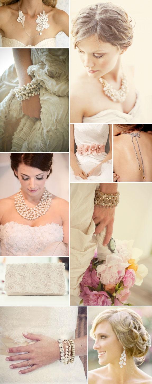 Rewelacyjne naszyjniki, bransoletki, kolczyki oraz torebki pasujące do sukni ślubnej.