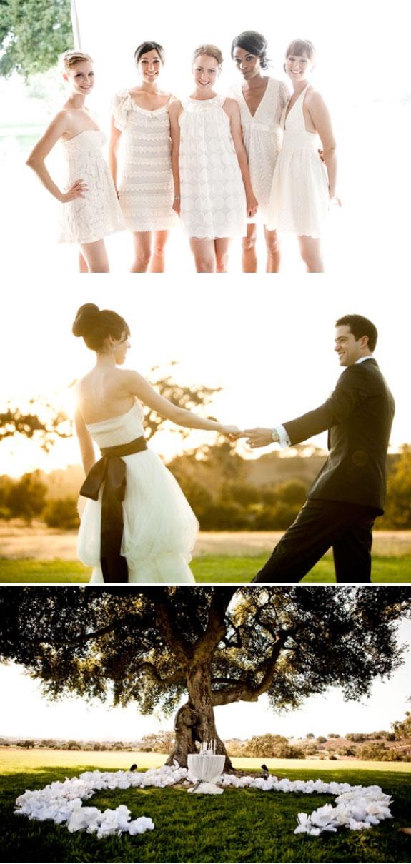 Białe sukienki dla druchen na weselu