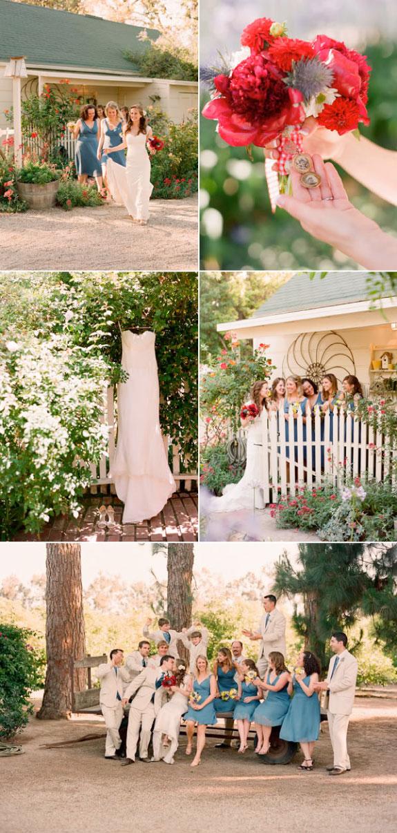 Pięknie zorganizowany ślub na wolnym powietrzu