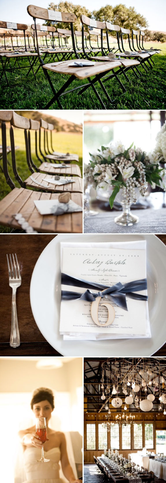 Dekoracje podłużnych stółow ślubnych
