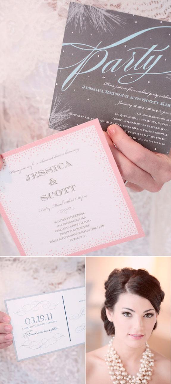 Zaproszenie ślubne w odcieniach różu