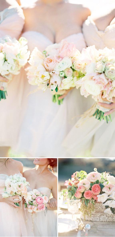 Bukiet ślubny w pastelowych kolorach