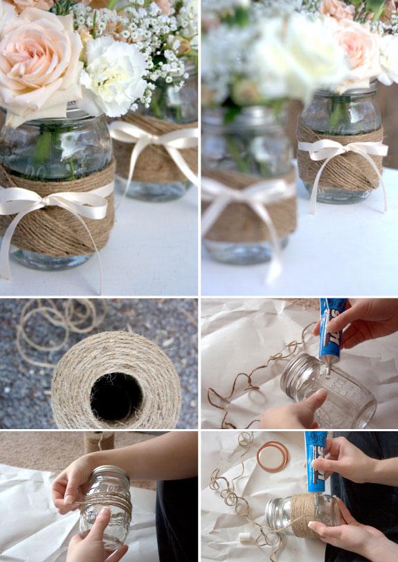 Oryginalny pomysł ze słoikami na wesele