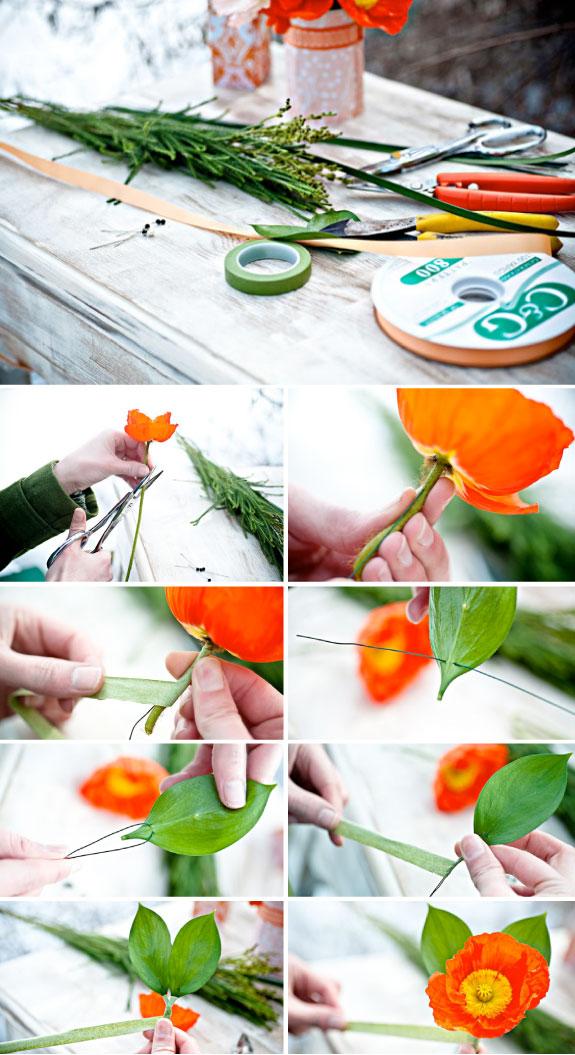 Ręcznie robione butonierki z kwiatów