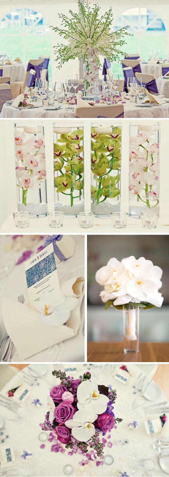 Wspaniale zorganizowany ślub w kolorach bieli, fioletu i fuksji