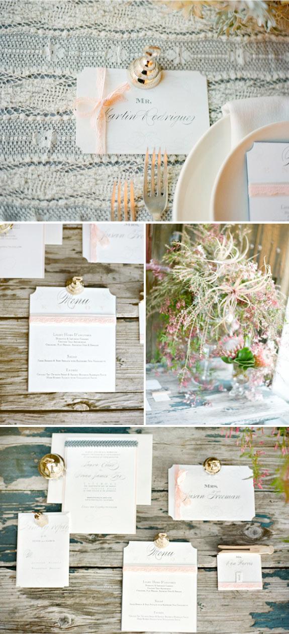 Nowoczesne zaproszenia na ślub wykonane metodą letterpress