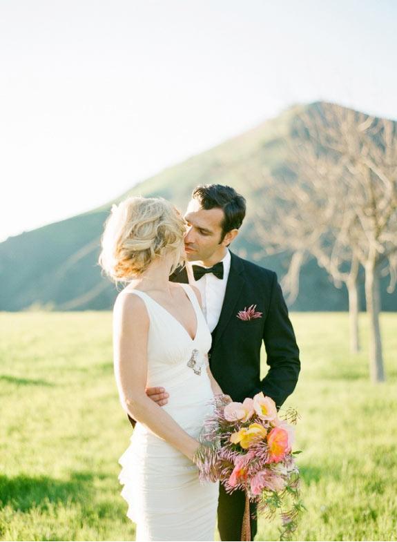 Inpiracja na ślub w delikatnych barwach