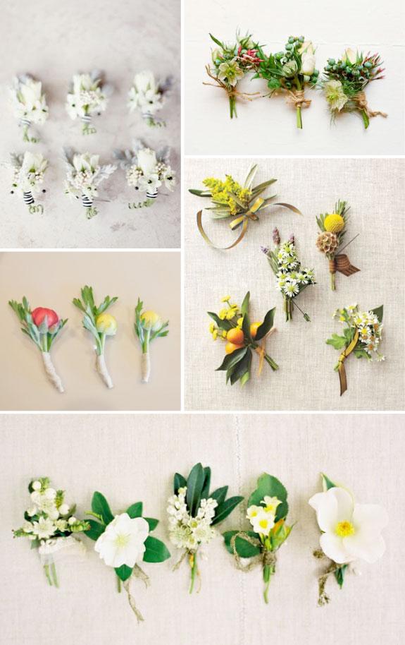 Letnie butonierki, butonierki z kwiatów