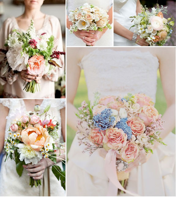 Galeria bukietów ślubnych na ślub latem