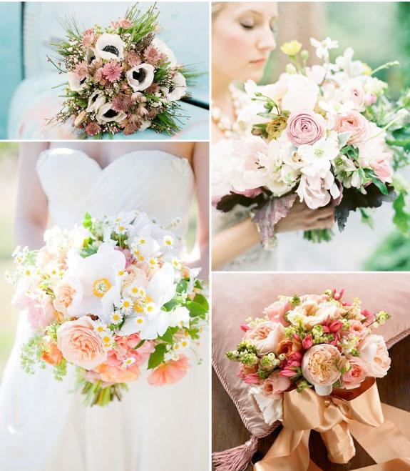 Piękne bukiety z polnych kwiatów na ślub w lecie