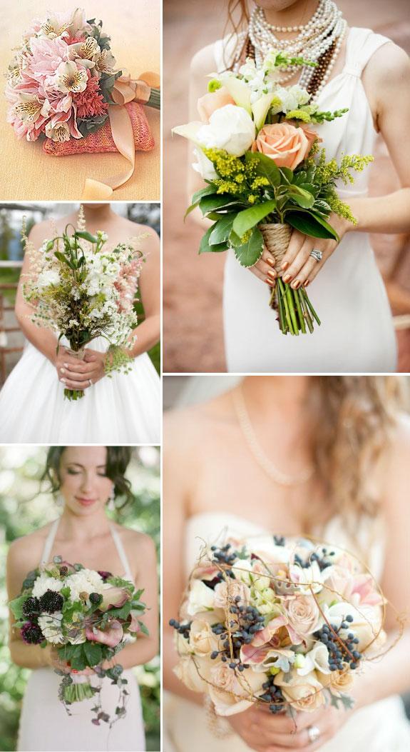 Letnie bukiety ślubne w pastelowych kolorach