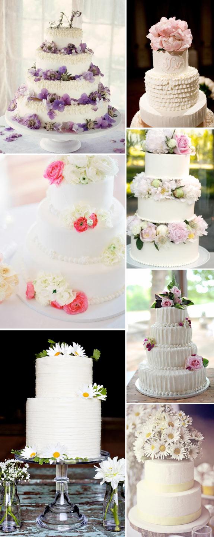 Pomysł na dekoracje tortu ślubnego