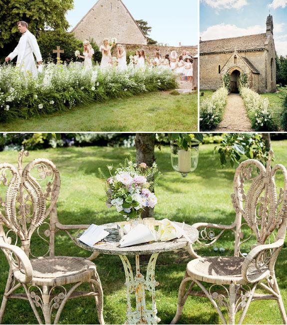 Pięknie zgrane detale na weselu w ogrodzie, stoliki w stylu kawiarni paryskim
