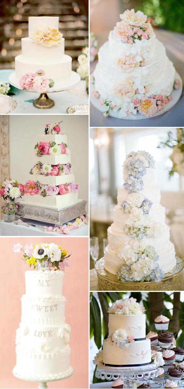 Pomysły na torty ślubne zdobione kwiatami