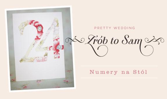 Zrób sam numery na ślub