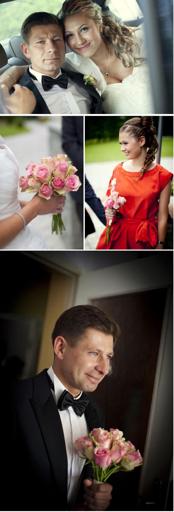 Drużka z Bukietem Ślubny Z Róż