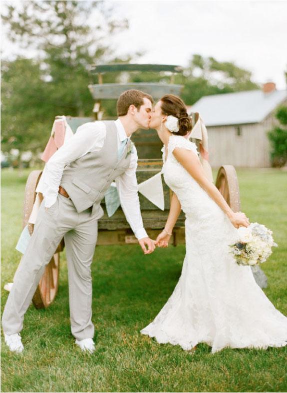 Pocałunek Nowożeńców do zdjęcia